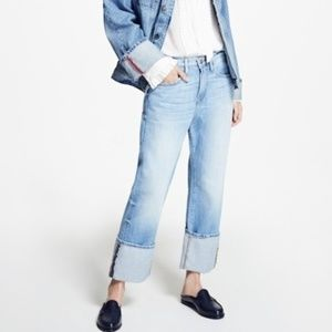 Frame Denim Le Oversized Cuffed Jeans